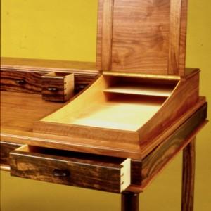Desk ebony & walnut detail 1 copy
