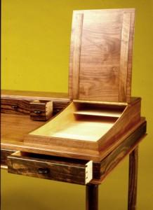 Desk ebony & walnut detail 2 copy